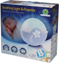 B Kids Watch over me smoothing light & projector blue
