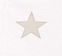 Odenwälder 2086/1285 jersey bedding big stars soft-ice creme 100x135cm