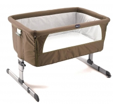 Chicco Beistellbett Next to me 0772 Dove grey inkl. Transporttasche