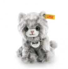 Steiff 084010 Minka Kätzchen 17 grau gestreift sitzend