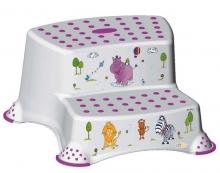 Tritthocker 2-stufig OKT Hippo weiß