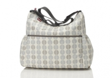 Babymel BM 6778 Big Slouchy Wickeltasche Multi Dot Grey Mist