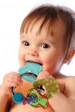 B Kids 005133 Slide & Chew Teether Keys Beißring