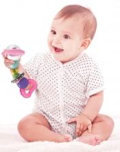 B Kids 005225 Shake & Bend Water Rattle Teether Kühlbeißring-Rassel pink