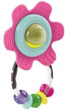 B Kids 005172 Shake & Teethe Gummy Flower Rattle pink