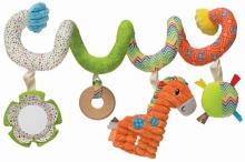 B Kids 005017 Spiral Car Seat Activity Toy Spielzeugspirale