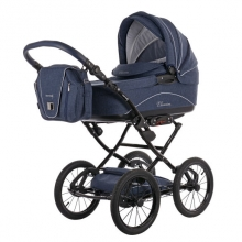 Knorr 36000-1 Classico stroller set navy incl. seat and changing bag