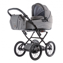 Knorr 36000-4 Classico stroller set bright grey incl. seat and changing bag