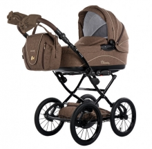 Knorr 36000-7 Classico stroller set brown incl. seat and changing bag