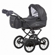 Knorr 36000-8 Classico stroller set grey incl. seat and changing bag