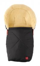 Kaiser 65341-25 Emma little lambskinfootmuff for baby carriers black 16/17