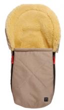 Kaiser 65341-31 Emma Lammfellfußsäckchen für Babyschalen sand