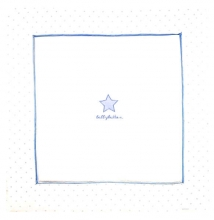 Alvi Krabbeldecke Classic Star mit Stick blue bellybutton 120x120