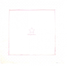 Alvi 612407992 Krabbeldecke Classic Star mit Stick rose bellybutton 120x120 2016/2017