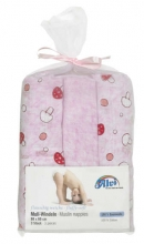 Alvi Pilze rosa 93817132 burp cloth 3x rolled 80x80 2016/2017