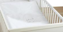Alvi 401253210 Bettwäsche Hello Baby weiß 100x135cm