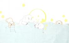 Alvi Wickelauflage Wiko Molly Folie Mondreise blau 75x85