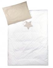 Zöllner Bettwäsche m. Applikation Sternenbild taupe 100x135cm