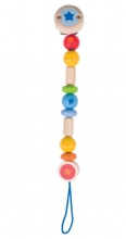 Heimess wooden pacifier-chain 736840 rainbow