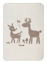 Zöllner 1507-0 Jacquard blanket weaved wood-animals natural 75/100