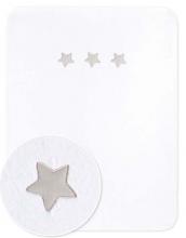 Zöllner Baumwoll-Decke m. Applikation Sternstunde weiß 75x100cm