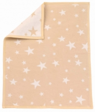 Zöllner 4100-06 Jacquard-Decke gewebt Sterne natur 75/100