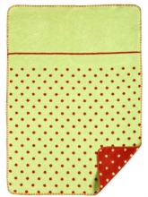 Zöllner 1323-6 Jacquard-Decke gewebt Punkte grün 75/100