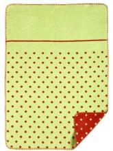Zöllner 1323-6 Jacquard blanket weaved points green 75/100