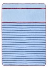 Zöllner 1325-3 Jacquard-Decke gewebt Streifen blau/rot 75/100
