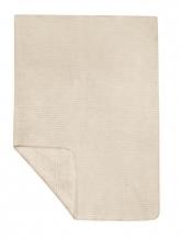 Zöllner 4020-0 Jacquard-Decke gewebt Streifen natur 75/100