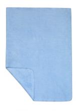 Zöllner 4031-0 Jacquard-Decke gewebt Streifen bleu 75/100