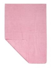 Zöllner 4076-1 Jacquard-Decke gewebt Streifen rose 75/100