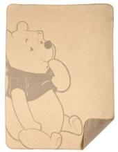 Zöllner 1340-1 Jacquard-Decke gewebt Disney Smiley Pooh 75/100