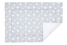 Odenwälder 7179-1/1095 Jersey turning playing mat white stars light silver 100x135