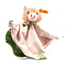 Steiff 241017 Piggilee pig comforter 25 rose