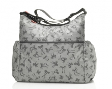 Babymel BM 1410 Big Slouchy Wickeltasche Bow grey