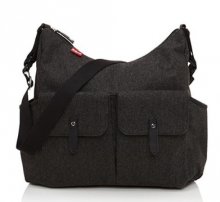 Babymel BM 7966 Frankie Wickeltasche tweed grey