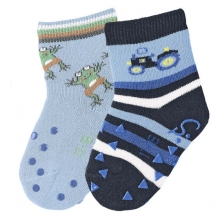 Sterntaler 8011721 ABS-crawling socks tractor (2x pack) 19/20 navy