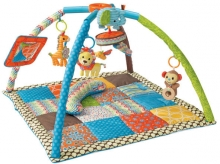 B Kids 005019 Deluxe Twist & Fold Activity Gym blue