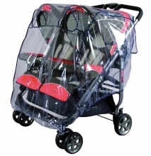 Baby Plus rain cover for twin buggy navy