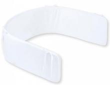 Zöllner cot bumper basic for childrens bed 180cm plain white