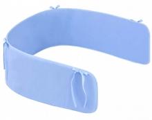 Zöllner cot bumper basic for childrens bed 180cm plain blue