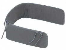 Zöllner cot bumper basic for childrens bed 180cm plain anthracite