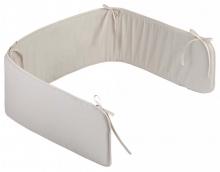 Zöllner cot bumper basic for childrens bed 180cm plain taupe