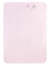 Zöllner Baumwoll-Decke m. Applikation Sternchen rosa 75x100cm