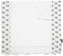 Alvi Wickelauflage+Bezug Set Special Edition Elephants white 70x85cm