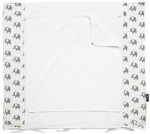 Alvi changing mat+cover set special edition Elephants white 70x85cm