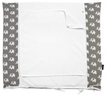 Alvi Wickelauflage+Bezug Set Special Edition Elephants grey 70x85cm