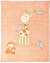 Alvi 931841535 Microfaser Baby Decke Giraffe 75 x 100 cm