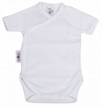 Baby Plus Schröders Wickelbody 1/4 Arm weiß 74/80